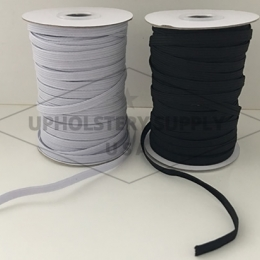 "1/4"" (6mm) Flat Braided Ribbed Elastic - 50 Yard Roll"